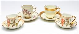Sale 9246 - Lot 36 - A suite of four coffee duos inc three Royal Doulton and one German example