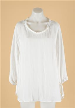 Sale 9260H - Lot 380 - A Mela Purdie white blouse with round neck, size M.