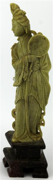Sale 8079 - Lot 30 - Chinese Carved Soapstone Figure of a Lady