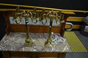 Sale 8134 - Lot 1002 - Pair of Brass Table Lamps
