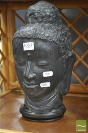 Sale 8289 - Lot 1083 - Composite Buddha Head on Stand