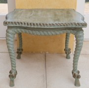 Sale 8677B - Lot 606 - An Italianate carved and painted coffee table with rope twist decoration and cabriole legs, H x 48cm, W x 57cm