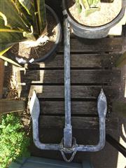 Sale 8684 - Lot 1064 - Large Cast Iron Reef Anchor by Marsh