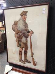 Sale 8767 - Lot 2079 - Early Framed Print of a Scottish Soldier