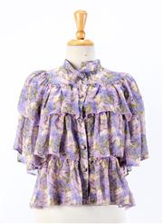 Sale 8891F - Lot 7 - A Giuseppe di Morabito, Milano floral printed silk layered blouse, approx size 6/8