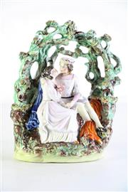 Sale 8972M - Lot 604 - 19th Century Staffordshire figural group, some losses (H23cm)