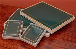 Sale 9108H - Lot 82 - A small group of placemats and coasters.