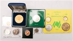 Sale 9144 - Lot 56 - A 1988 $2 coin by Hurst Hahne Imprint stamp, together with every Australian coin denomination (1c to $2, $5 to $10)