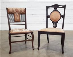 Sale 9188 - Lot 1332 - Pair of matched Victorian parlour chairs (h80 x w45 x d40cm)