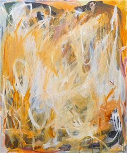 Sale 9191H - Lot 14 - GWYN TOSI Abstract acrylic on canvas 122 x 101 cm signed verso