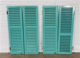 Sale 9255 - Lot 1502A - Set of 4 painted timber shutters (h139 x 42cm)