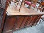 Sale 7919A - Lot 1710 - Large Antique Pitch Pine Sideboard with 4 Panel Doors Revealing Slides