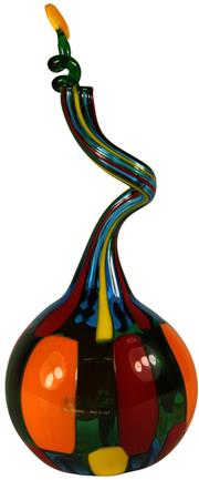 Sale 8057 - Lot 84 - Murano F&M Ballarin Signed Spiral Perfume Bottle