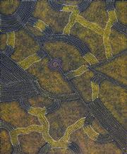 Sale 8374 - Lot 530 - Gracie Morton Pwerle (c1956 - ) - Womens Travelling Tracks 117 x 96cm