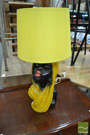 Sale 8476 - Lot 1084A - African Lady Bust Table Lamp