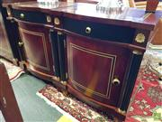 Sale 8566 - Lot 1428 - Pair of Inlaid Bedsides with Ebonised and Gilt Detail