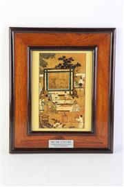 Sale 8783 - Lot 114 - A Framed Ming Style Print