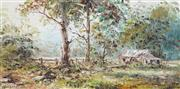 Sale 8838A - Lot 5002 - John Francis Hingerty (1930 - ) - By the Mudgee Road 37 x 75cm