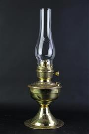 Sale 8849 - Lot 45 - A Brass  Famos Lamp with Chimney and Shade