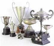 Sale 8977 - Lot 70 - A Large Collection of Various Trophies inc Silver Plated Examples