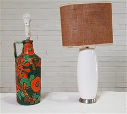 Sale 9151 - Lot 1334 - Ceramic table lamp and another (h:66cm)
