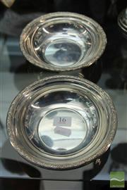 Sale 8217 - Lot 16 - Silver Pair of Bowls (Weight - 200.5g)