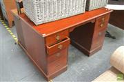Sale 8406 - Lot 1119 - Timber Desk with Eight Drawers