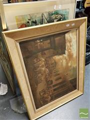 Sale 8491 - Lot 2076 - Group of Assorted Artworks incl. Still Life watercolour, oil painting, and decorative prints.