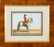 Sale 8665A - Lot 5088 - French School (C19th) - Dressage studies (2), Le Modeste and Il Peso Doro 21 x 29.5cm, each
