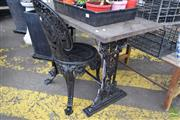 Sale 8532 - Lot 1223 - Outdoor Side table with Chair