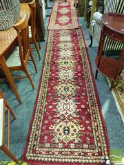 Sale 8545 - Lot 1021 - Two Machine Made Red Tone Hall Runners