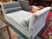 Sale 8637 - Lot 1021 - Modern Upholstered Double-Ended Settee with Bolster Cushions