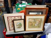 Sale 8686 - Lot 2086 - Collection of Framed Prints & Embroidery