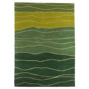 Sale 8860C - Lot 29 - An Indian Organic Waves, in Handspun Wool & Silk 140x200cm