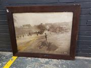 Sale 9022 - Lot 1086 - Antique Photo of Palestine in Oak Frame (h:94 x w120cm)