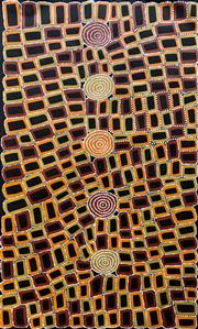 Sale 9072A - Lot 5052 - Walala Tjapaltjarri (1970 - ) - Tingari Cycle, 2020 90 x 150 cm (stretched and ready to hang)