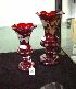 Sale 7346 - Lot 32 - TWO GRADUATED RUBY GLASS VASES