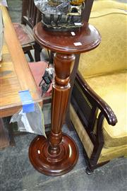 Sale 7981A - Lot 1056 - Timber Pedestal on Fluted Support