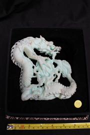 Sale 8064A - Lot 68 - Chinese Dragon Carved in Opalite