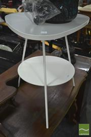 Sale 8312 - Lot 1080 - Frosted Glass Top Occasional Table