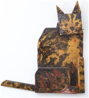 Sale 8800 - Lot 242 - Annie Herron - Abstract Timber Cat H 49cm