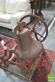 Sale 8331 - Lot 1018 - Large Mounted Cast Iron Bell