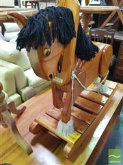 Sale 8447 - Lot 1087 - Timber Rocking Horse