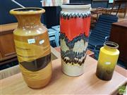 Sale 8493 - Lot 1072 - Collection Of Three West German Pottery Vases