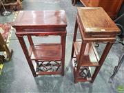 Sale 8593 - Lot 1004 - Pair of Oriental Plant Stands