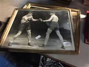 Sale 8659 - Lot 2293 - 4 Framed Boxing Ephemera