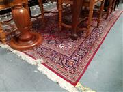 Sale 8688 - Lot 1042 - Persian Wool Carpet on Silk Base in Red & Blue Tones