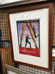 Sale 8726 - Lot 2092 - Framed For Your Eyes Only , Poster Print