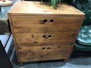 Sale 8817 - Lot 1092 - Timber Chest of 3 Drawers