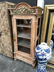 Sale 8896 - Lot 1011 - Timber Cabinet With Glass Front Door And Single Drawer Below